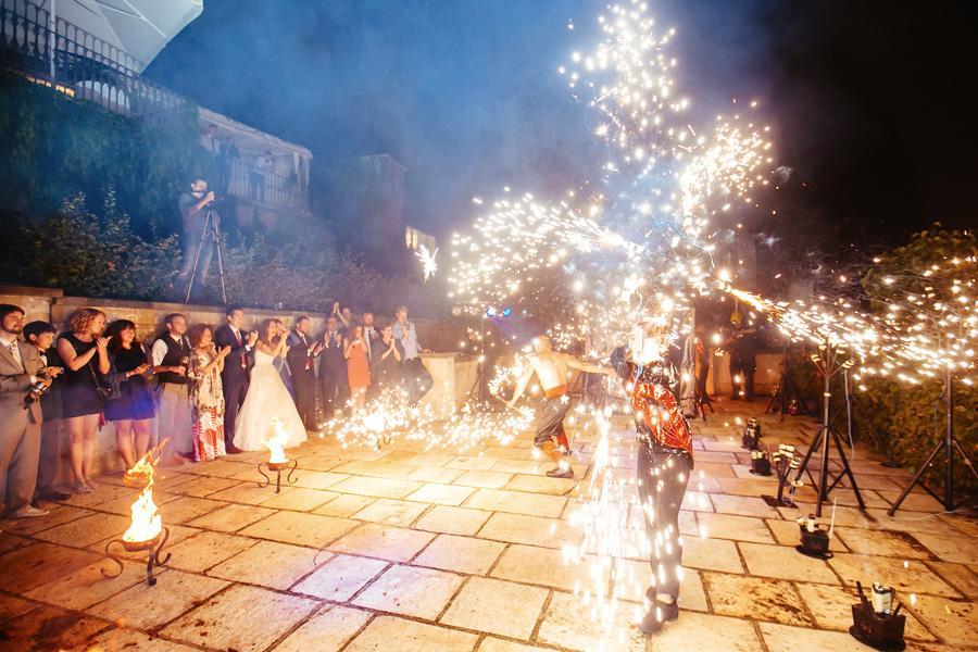 Fire show Prague